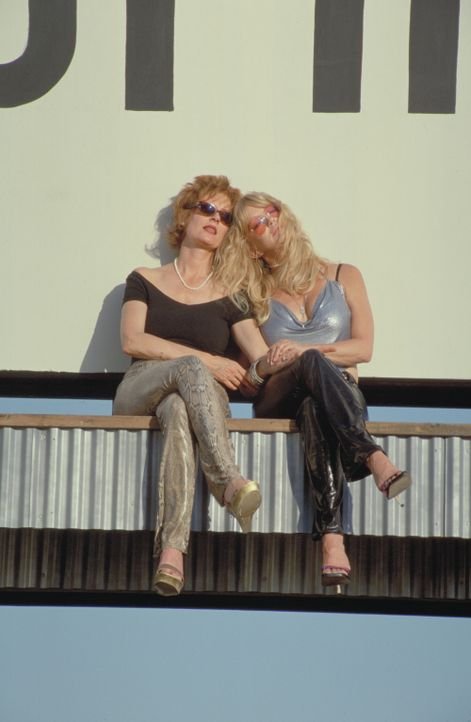 Groupies Forever: Als sich die zwei Freundinnen Suzette (Goldie Hawn, r.) und Lavinia (Susan Sarandon, l.) nach Jahrzehnten wiedertreffen, beschließ... - Bildquelle: 2002 Twentieth Century Fox Film Corporation. All rights reserved.