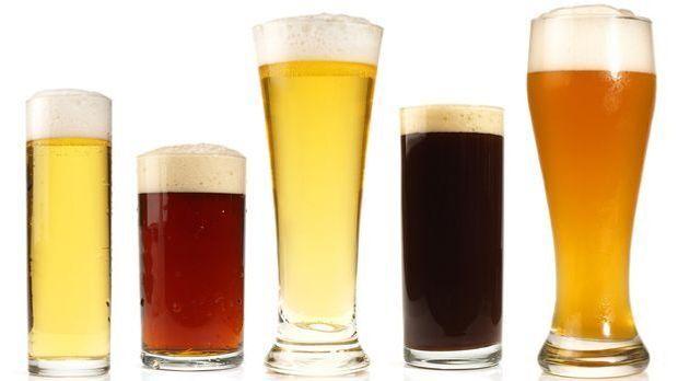 Biergläser in verschiedenen Größen und Formen - Weißbierglas bis Kölschglas