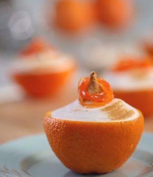 Mini Orangen-Trifles mit kandierten Karotten