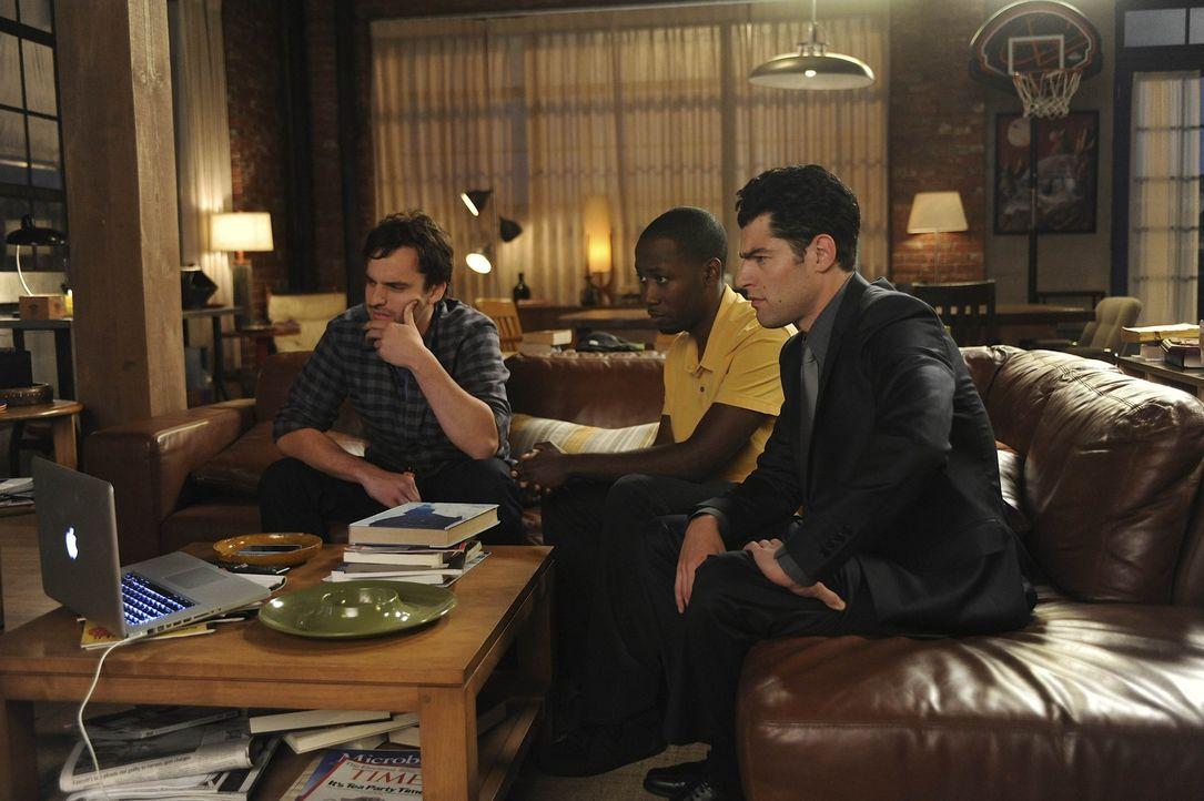 Sind immer für einen gut Tipp für Jess zu haben: Schmidt (Max Greenfield, r.), Nick (Jake M. Johnson, l.) und Winston (Lamorne Morris, M.) ... - Bildquelle: 20th Century Fox