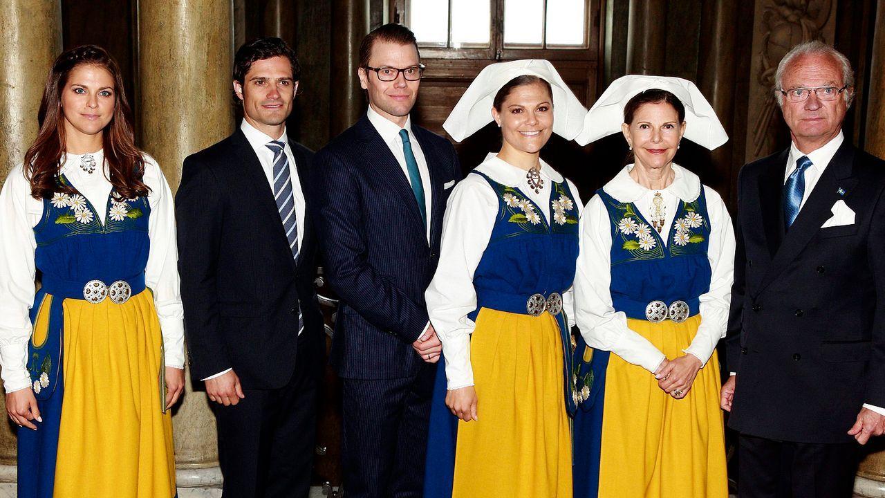 Schwedische-Koenigsfamilie-12-06-06-dpa - Bildquelle: dpa