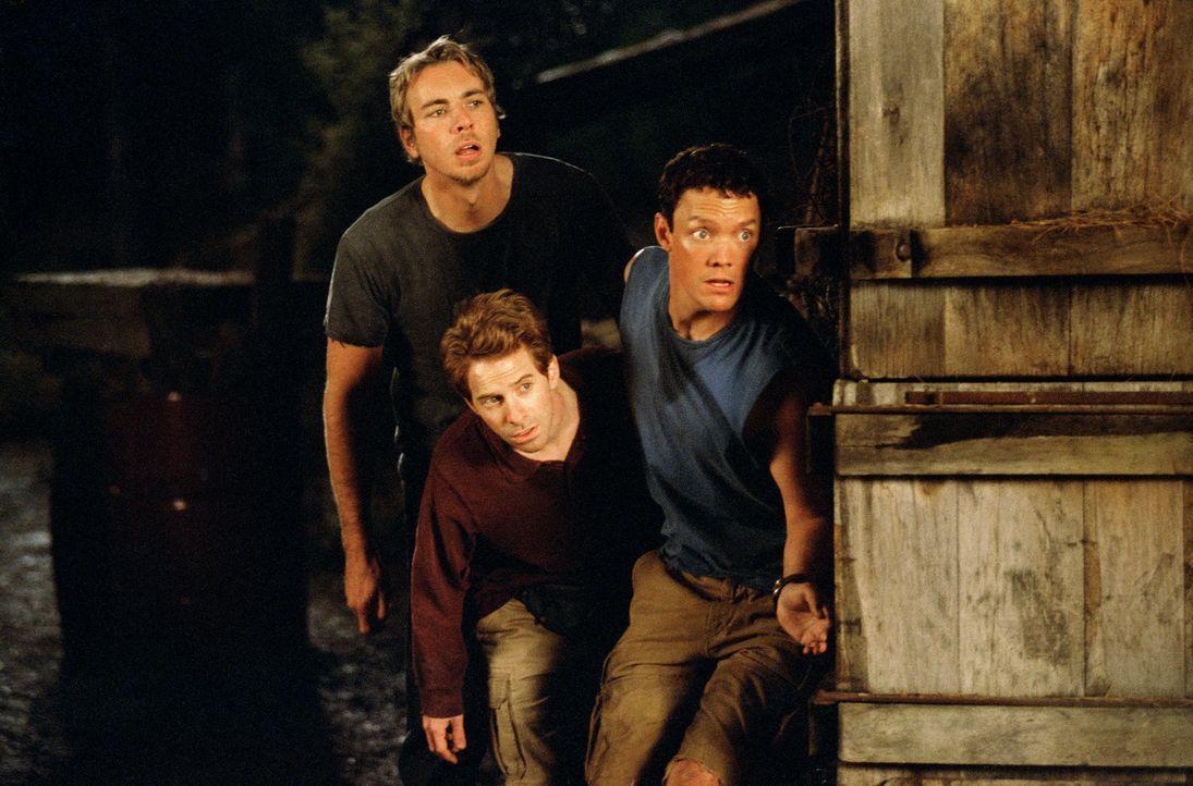 Nach der Beerdigung ihres Freundes Billy treffen sich Jerry (Matthew Lillard, r.), Dan (Seth Green, M.) und Tom (Dax Shepard, l.) im alten Baumhaus... - Bildquelle: Paramount Pictures
