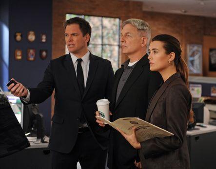 Ein neuer Mordfall wartet auf Tony (Michael Weatherly, l.), Gibbs (Mark Harmo...