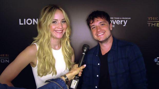 Stars - Mockingjay: Ausstellung mit Jennifer Lawrence und Josh Hutcherson