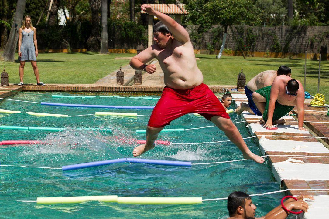 Voller Körpereinsatz von Patrick ... - Bildquelle: Enrique Cano SAT.1