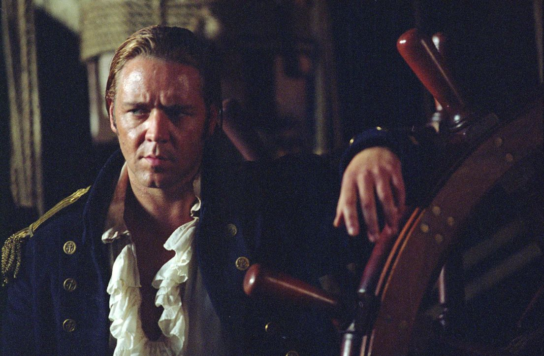 """Pflichtbewusst bis auf die Knochen und einem guten Kampf nie abgeneigt: """"Lucky"""" Jack Aubrey (Russell Crowe), Kapitän des britischen Schiffes """"HMS Su... - Bildquelle: 2003 Twentieth Century Fox Film Corporation, Miramax Film Corp. and Universal City Studios LLLP. All rights reserved."""