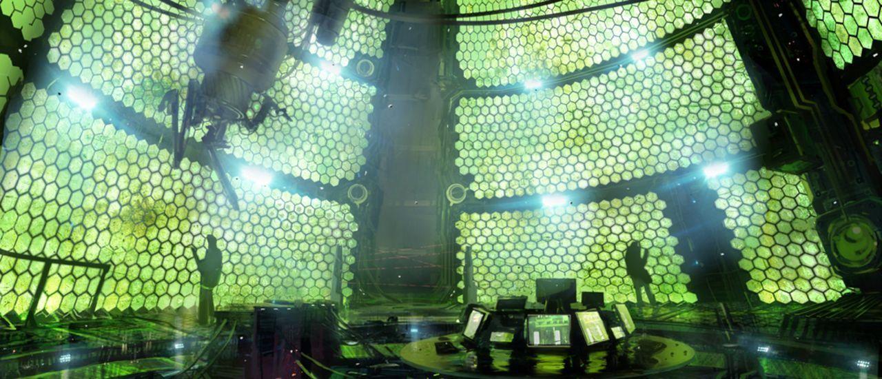 Ein Raum wie ein Bienenstock: Leon und Ada Wong entdecken, dass in den einzelnen Waben sogenannte Plaga leben, gefährliche Parasiten, die als bioorg... - Bildquelle: 2012 Capcom Co., Ltd. and Resident Evil CG2 Film Partners. All Rights Reserved.