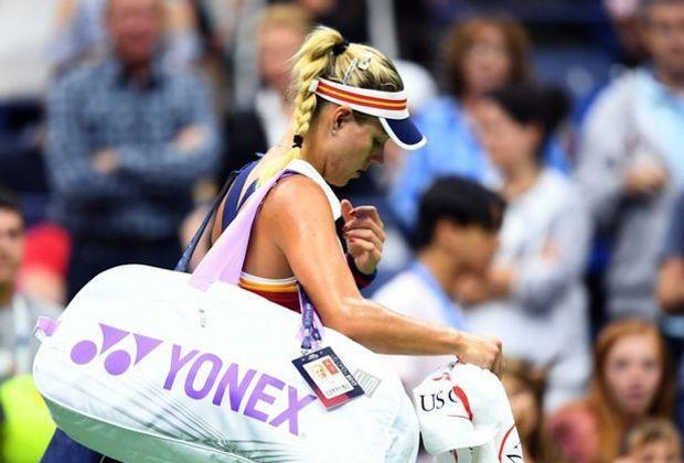 Kerber schied bei den US Open in der ersten Runde aus