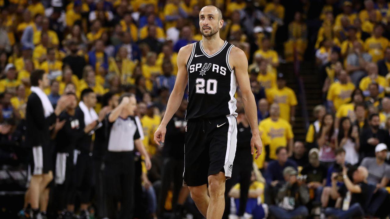 Manu Ginobili (San Antonio Spurs): 16 Jahre - Bildquelle: 2018 Getty Images