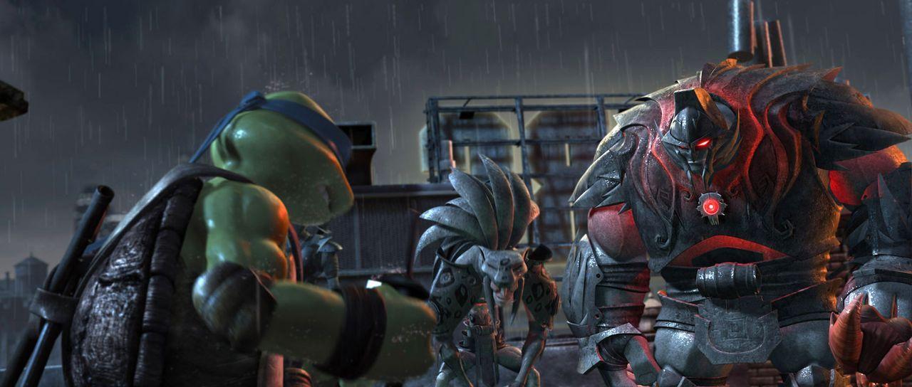 Dunkle Schatten ziehen durch New York, und monströse Kreaturen treiben ihr Unwesen. Können die Ninja-Turtles und ihre Freunde sie jetzt noch aufha... - Bildquelle: TOBIS Filmkunst GmbH