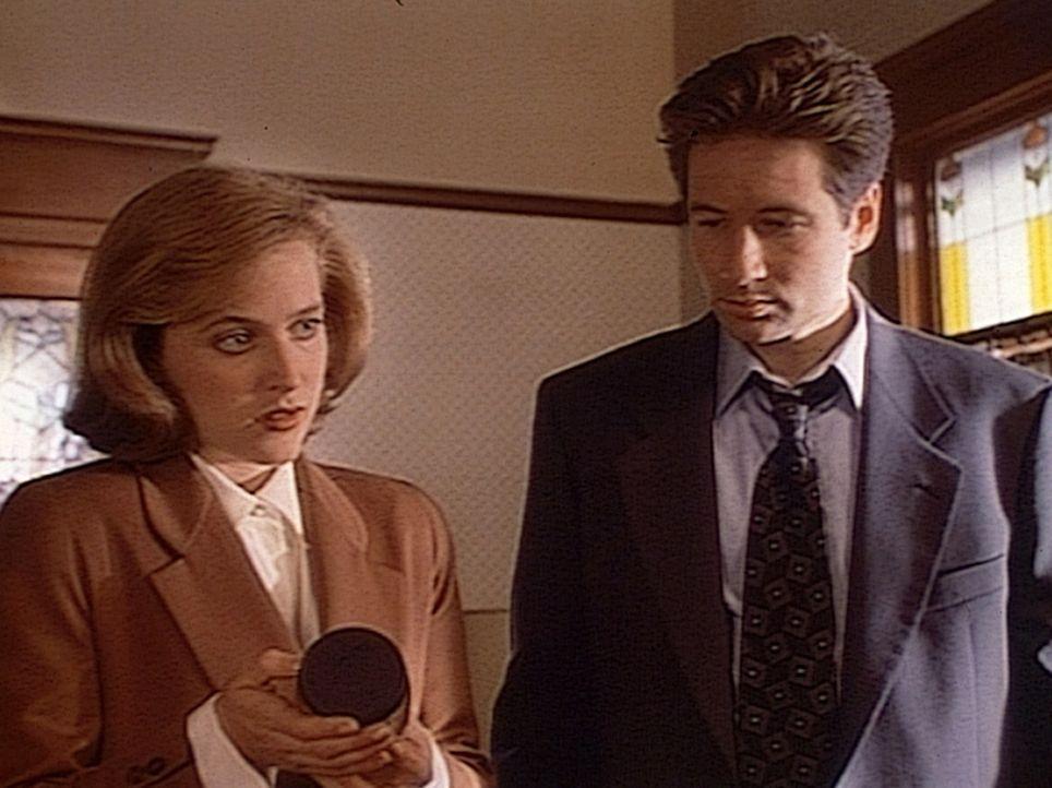 Die FBI-Agentin Dana Scully (Gillian Anderson, l.) und Fox Mulder (David Duchovny, r.) stehen ratlos vor dem Phänomen, dass ein und derselbe Mörder... - Bildquelle: TM +   Twentieth Century Fox Film Corporation. All Rights Reserved.