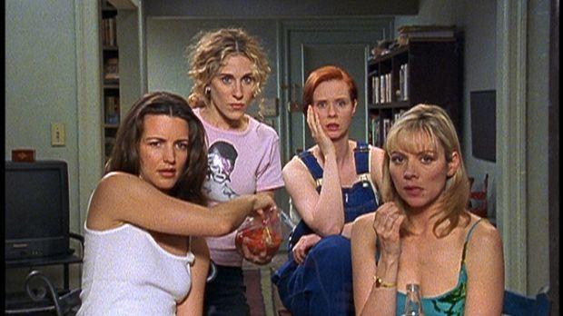 (v.l.n.r.) Charlotte (Kristin Davis), Carrie (Sarah Jessica Parker), Miranda...