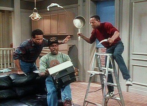 Bill Cosby Show - Weil Elvin (Geoffrey Owens, l.), Martin (Joseph C. Phillips...