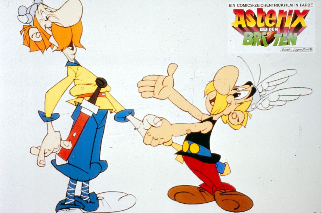 Nachdem Cäsar immer noch kein Mittel findet, das kleine gallische Dorf, in dem Asterix (r.) und Obelix leben, zu besiegen, führt er seine Legionen... - Bildquelle: Jugendfilm-Verleih GmbH