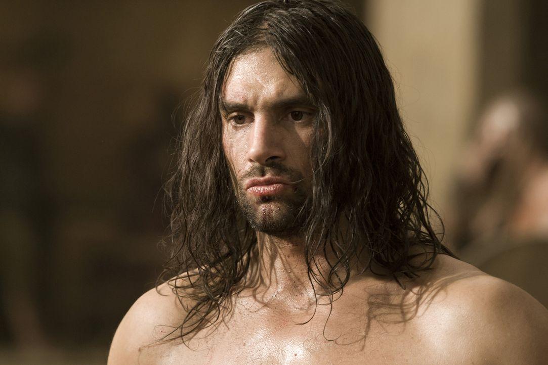 Muss beweisen, dass er im Kampf auf Leben und Tod bestehen kann: Crixus (Manu Bennett) ... - Bildquelle: 2010 Starz Entertainment, LLC