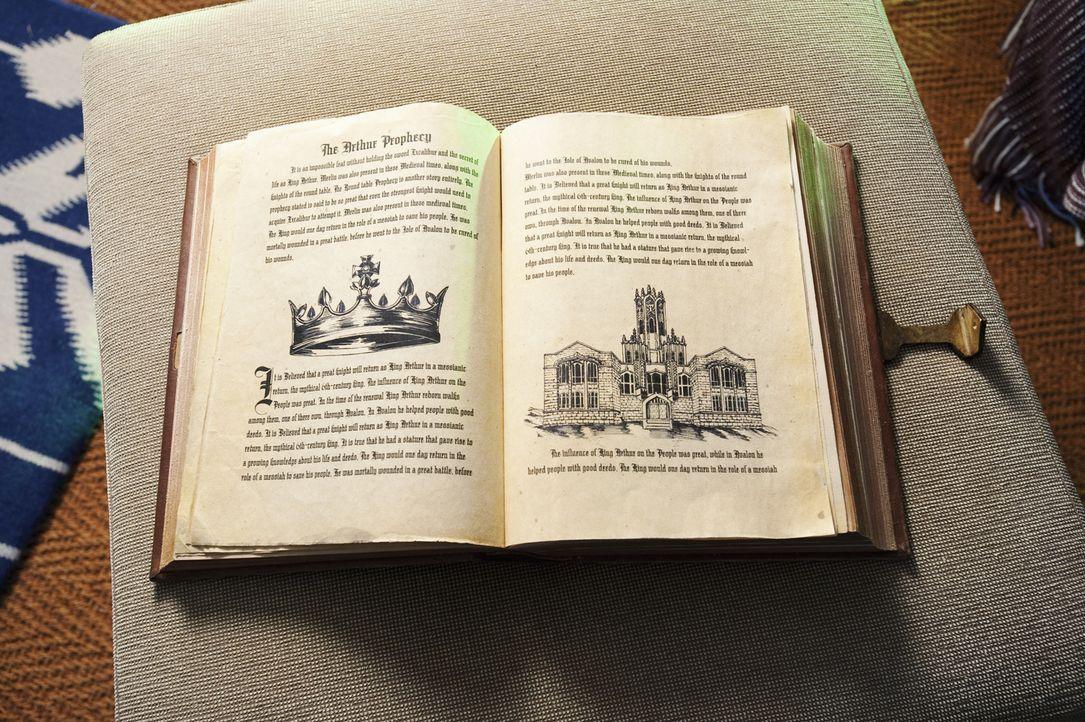 In dem Buch, das Allie von ihren Eltern erhält, gibt es eine versteckte Seite, die darauf hinweist, dass König Artus an dem Tag wiederkommen wird, a... - Bildquelle: Geoff Short 2010 Disney Enterprises, Inc. All rights reserved.