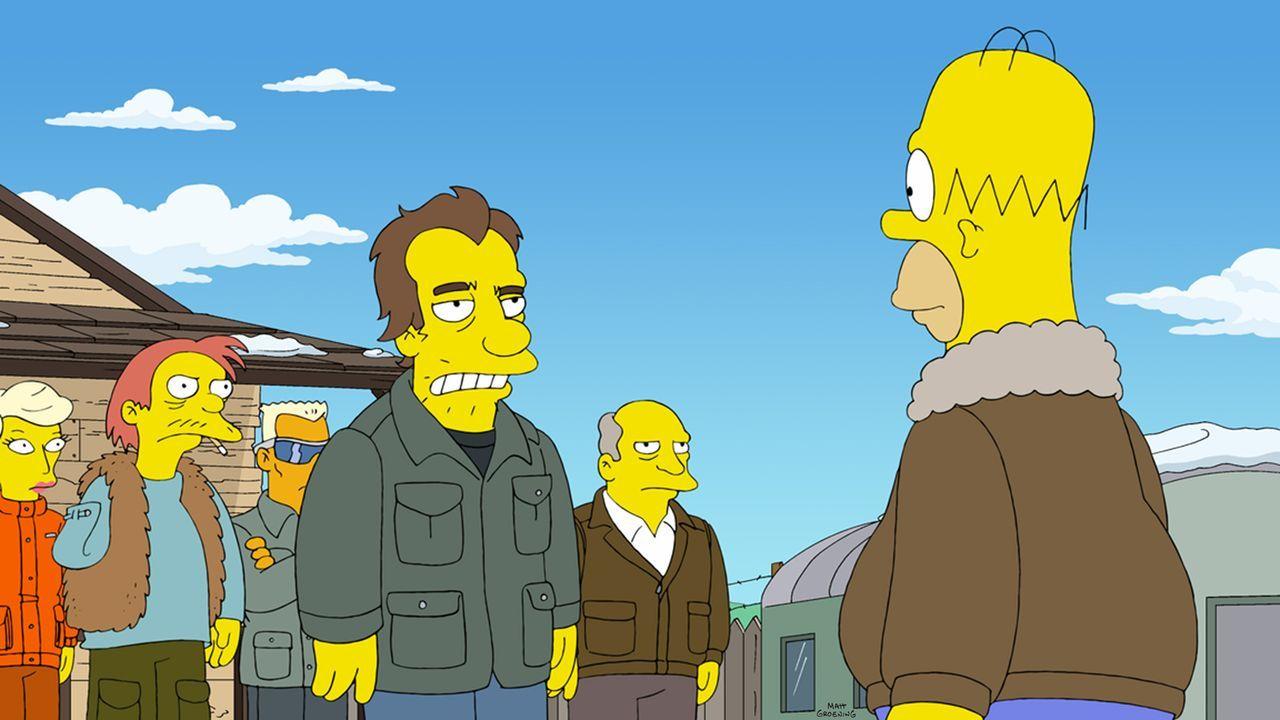 Als Homer (r.) im Kernkraftwerk einen Fehler begeht und Springfields Elektrizität lahmlegt, glaubt er, das Ende sei gekommen. Er schnappt sich seine... - Bildquelle: und TM Twentieth Century Fox Film Corporation - Alle Rechte vorbehalten