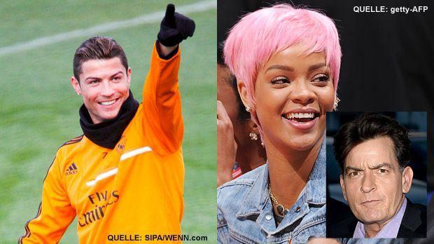 TOP Ronaldo FLOP Rihanna und Charlie Sheen - Bildquelle: SIPA/WENN.com  - getty-AFP