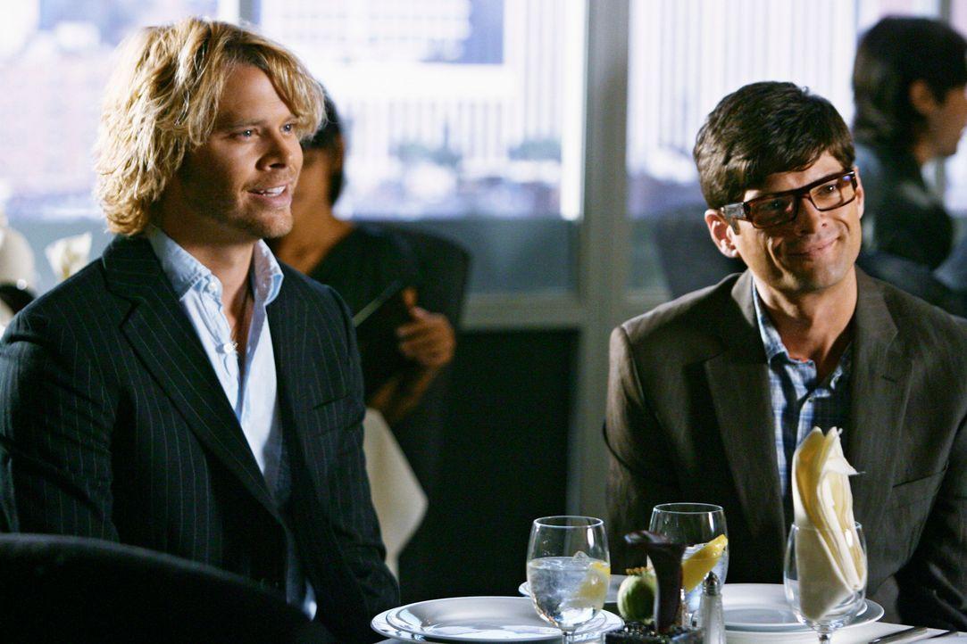 Sarahs potentielle Arbeitgeber: Kyle DeWitt (Eric Christian Olsen, l.) und Ethan Travis (Will McCormack, r.) ... - Bildquelle: 2008 ABC INC.