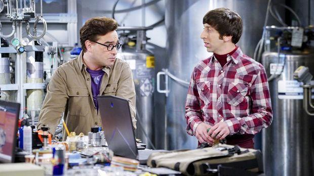 Da Sheldon ihre Arbeit für die Air Force behindert, schicken Howard (Simon He...