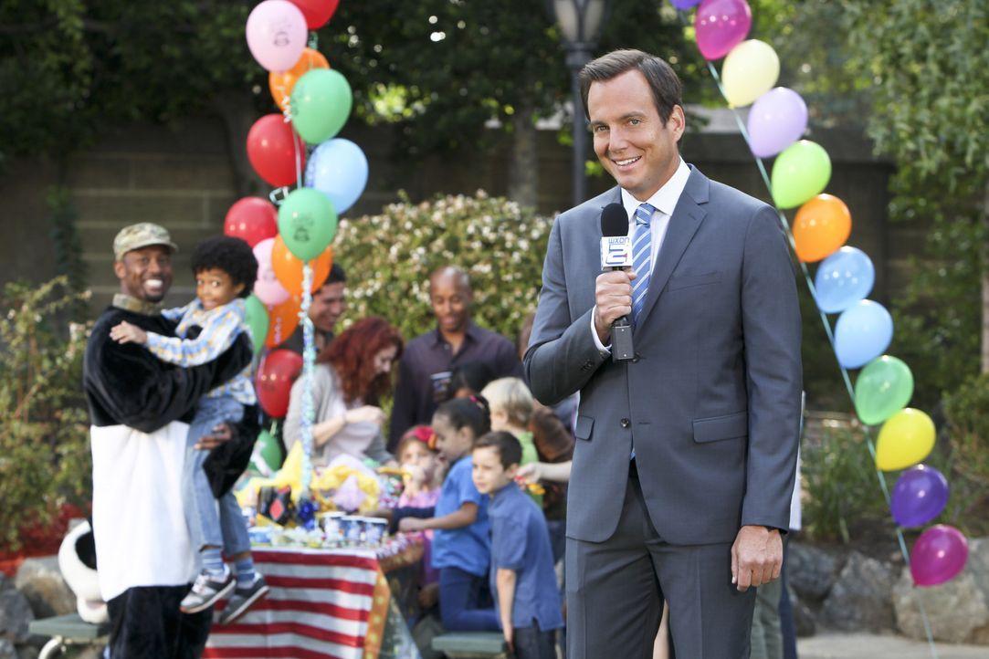Reporter Nathan (Will Arnett) besucht heimlich einen Psychotherapeuten ... - Bildquelle: 2013 CBS Broadcasting, Inc. All Rights Reserved.