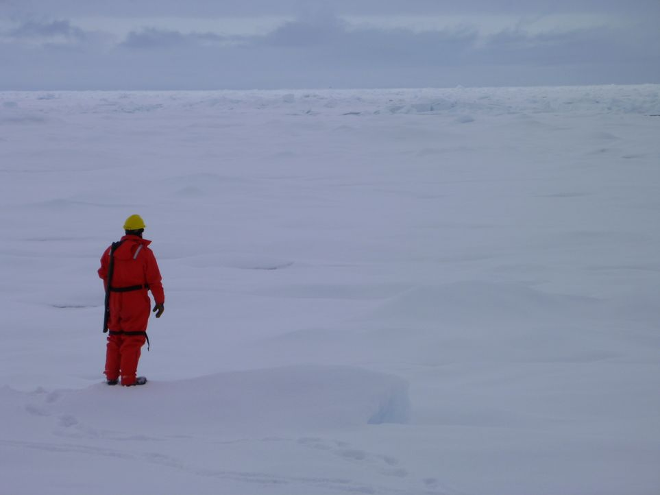 Crewmitglieder des Forschungseisbrechers Amundsen erforschen die Antarktis, um Erkenntnisse über die globale Erwärmung zu erlangen. - Bildquelle: Exploration Production Inc.