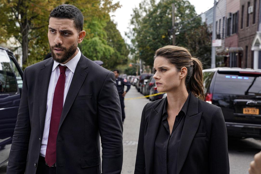 Omar Adom Zidan (Zeeko Zaki, l.); Maggie Bell (Missy Peregrym, r.) - Bildquelle: Michele Crowe 2018 CBS Broadcasting, Inc. All Rights Reserved/Michele Crowe