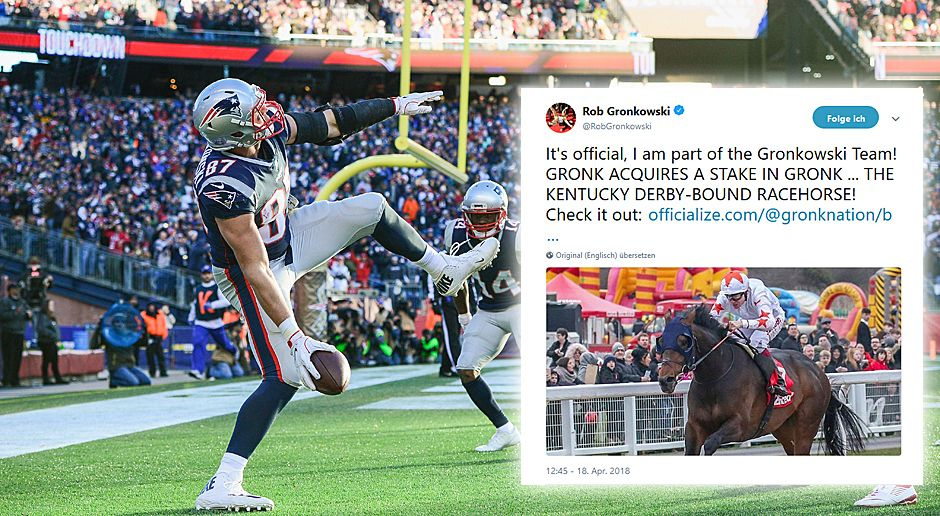 Rob Gronkowski kauft Gronk - Bildquelle: 2017 Getty Images, twitter.com/RobGronkowski