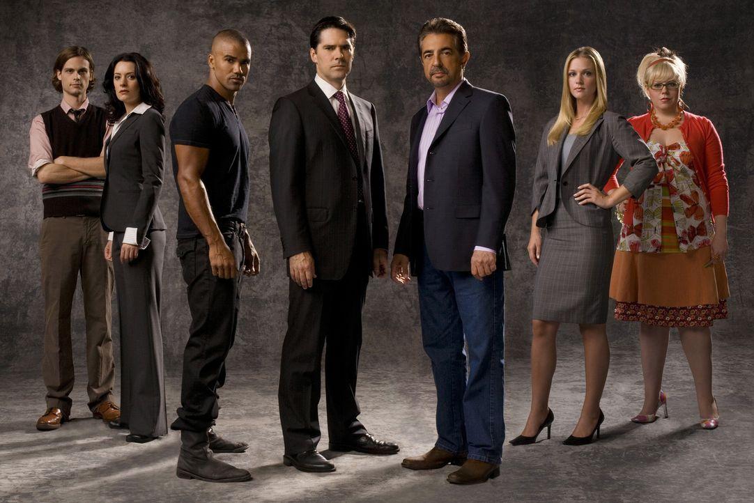 (3. Staffel) - Ein starkes Team, das jeden Serientäter zur Strecke bringt: (v.l.n.r.) Special Agent Dr. Spencer Reid (Matthew Gray Gubler), Emily Pr... - Bildquelle: Touchstone Television