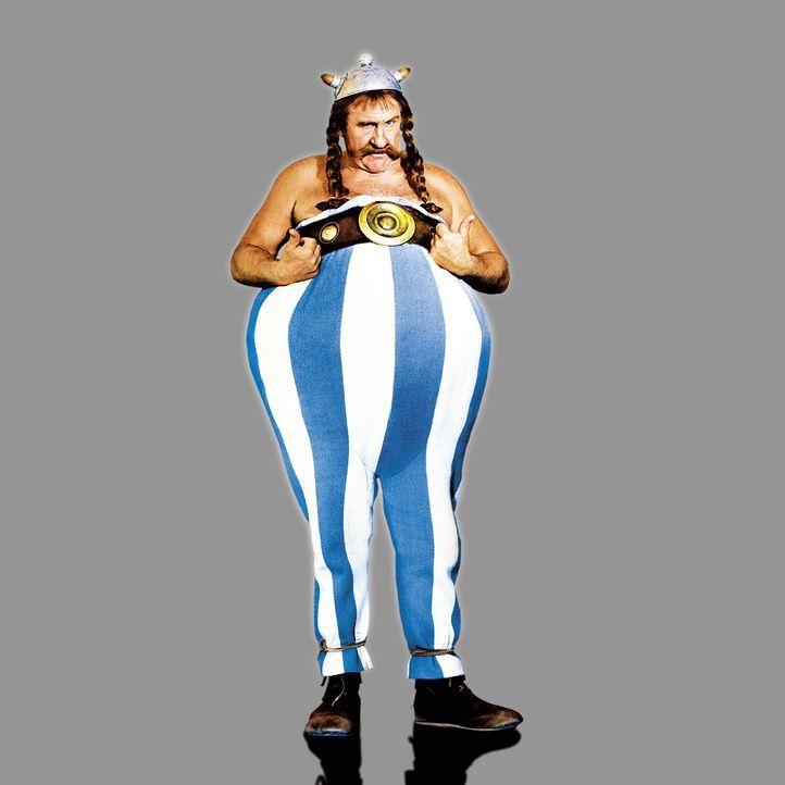 Keine Zeit für Wildschweine: Obelix (Gérard Depardieu) muss nach Griechenland und Romantix helfen die Olympischen Spiele zu gewinnen ... - Bildquelle: Constantin Film