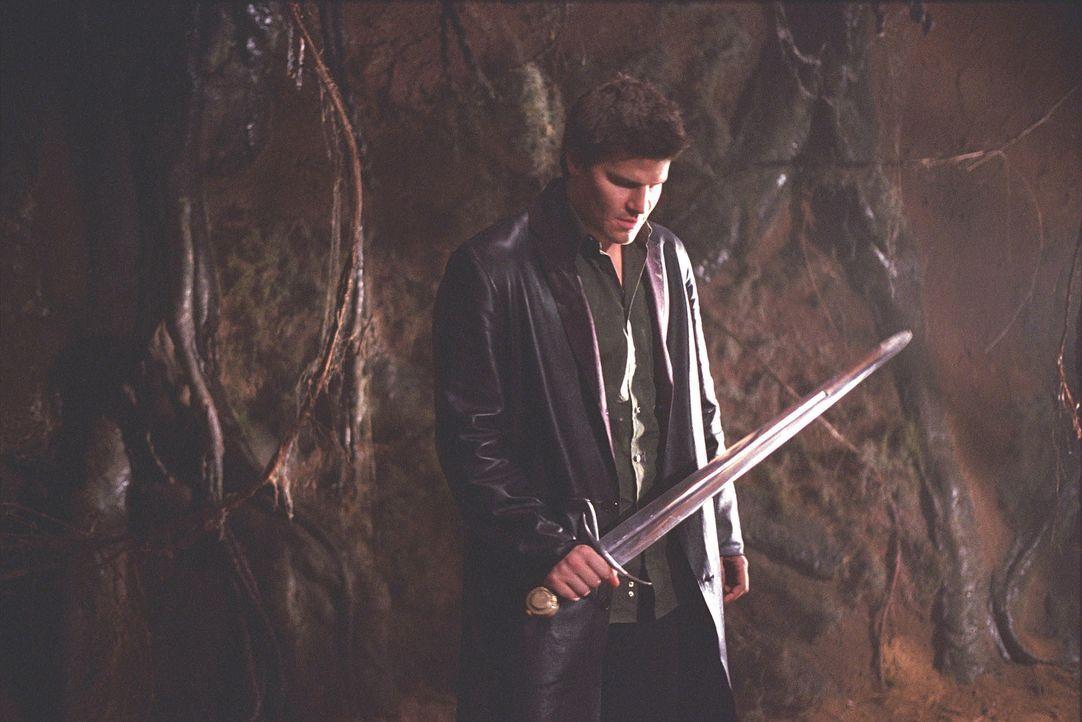 Angel (David Boreanaz) ist in der Höhle eines unheimlichen Monsters. - Bildquelle: 20th Century Fox. All Rights Reserved.