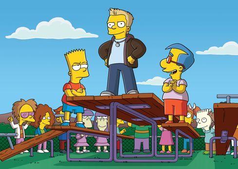 Die Simpsons - Bart (l.) hat Konkurrenz bekommen: Donny (M.) ist plötzlich de...