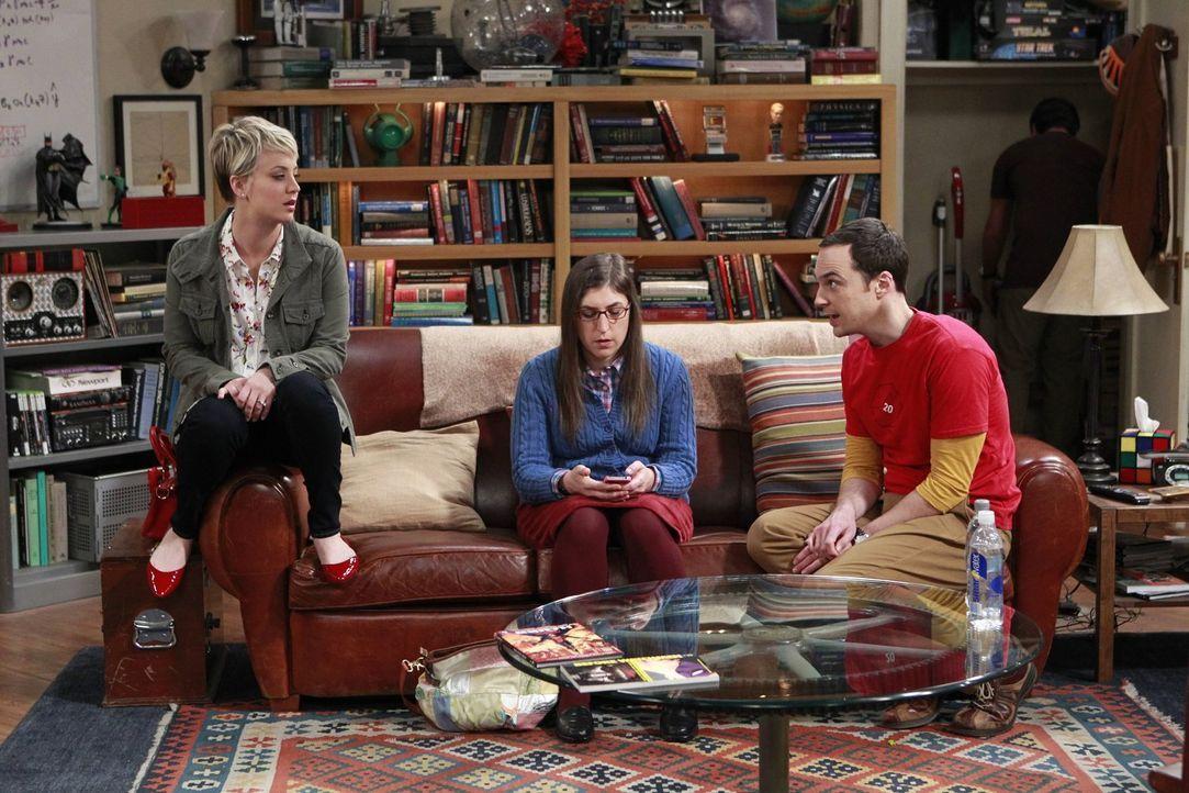 Ein ganz besonderer Ausflug wartet auf Sheldon (Jim Parsons, r.), Penny (Kaley Cuoco, l.) und Amy (Mayim Bialik, M.) ... - Bildquelle: Warner Bros. Television