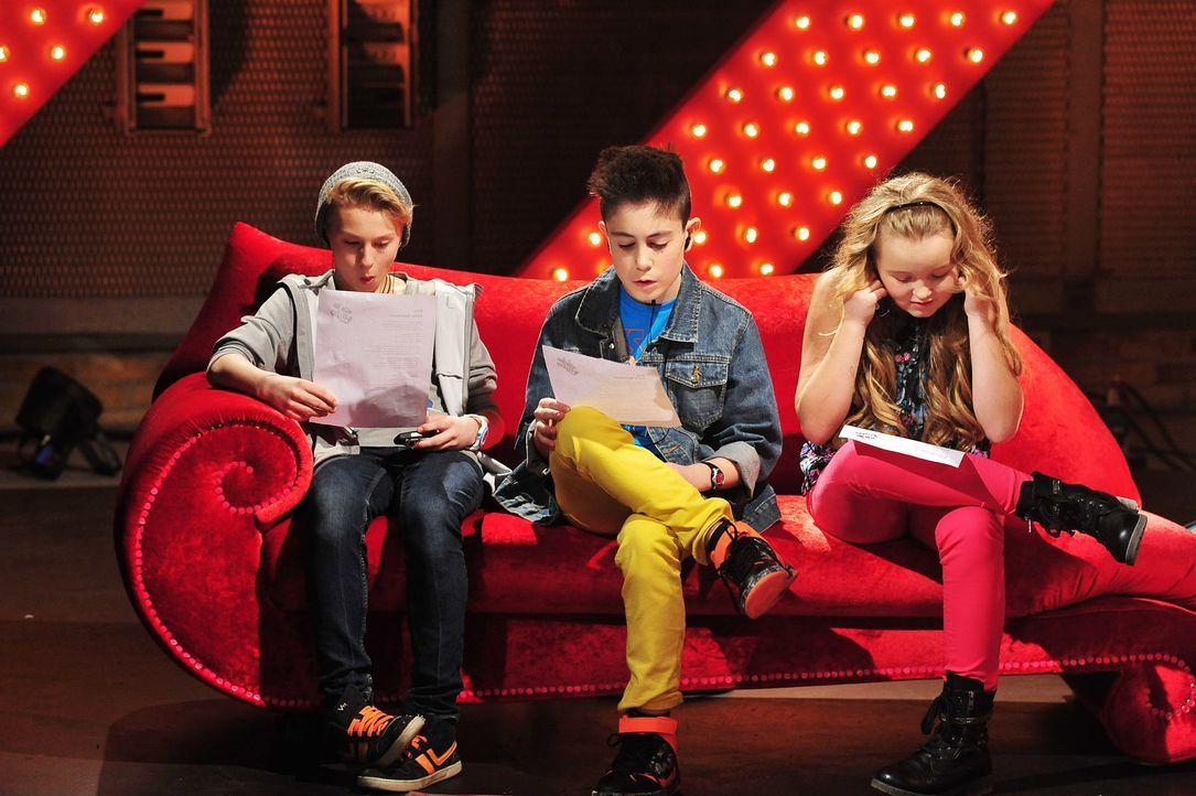 The-Voice-Kids-Stf02-Epi07-Vanessa-Joel-Leif-5-SAT1-Andre-Kowalski - Bildquelle: SAT.1/Andre Kowalski