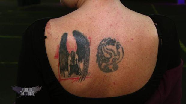 horror tattoos video horror tattoos 2 folge 7 andreas gefallener engel prosieben. Black Bedroom Furniture Sets. Home Design Ideas