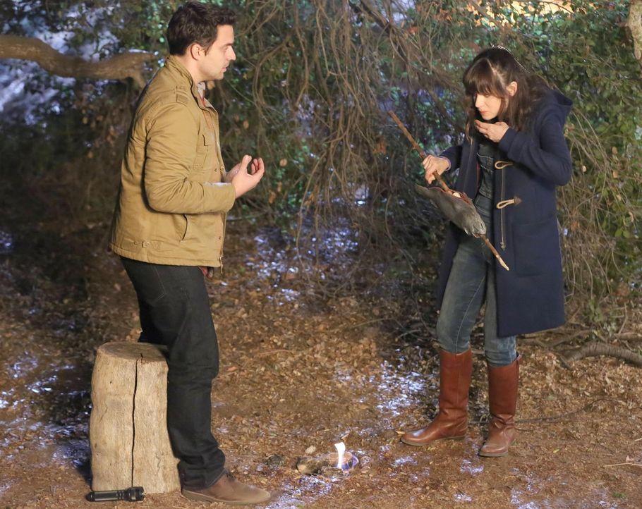 Jess (Zooey Deschanel, r.) versucht alles, um Nick (Jake M. Johnson, l.) zu beweisen, dass sie ihn wirklich liebt. Ihre Liebesbeweise führen die ver... - Bildquelle: 2013 Twentieth Century Fox Film Corporation. All rights reserved.