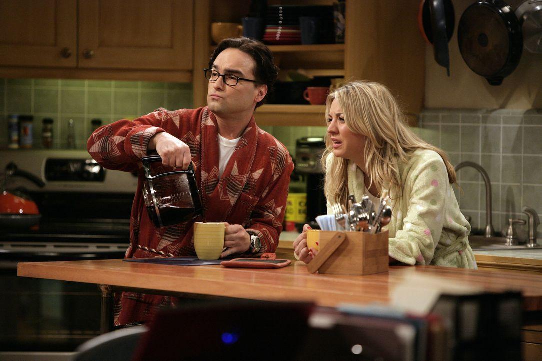 Sheldon will herausfinden, warum sich Elektronen beim Durchqueren einer Graphen-Schicht so verhalten, als hätten sie keine Masse. Dieses Problem ra... - Bildquelle: Warner Bros. Television