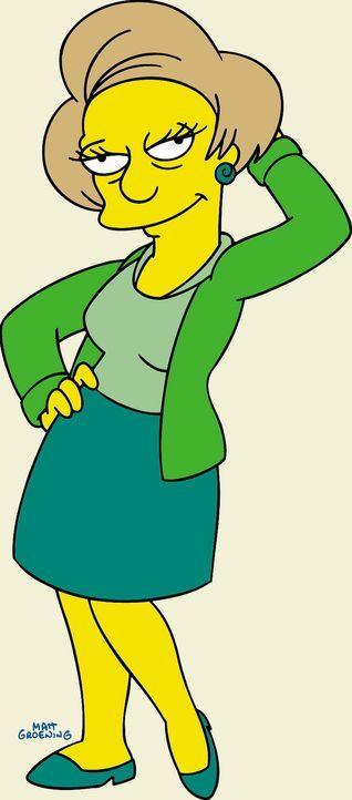 (13. Staffel) - Wirft sich in Pose: Barts Lehrerin Miss Krabappel. - Bildquelle: und TM Twentieth Century Fox Film Corporation - Alle Rechte vorbehalten