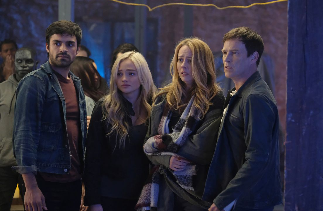 (v.l.n.r.) Marcos (Sean Teale); Lauren (Natalie Alyn Lind); Kate (Amy Acker); Reed (Stephen Moyer) - Bildquelle: Eliza Morse 2017 Fox and its related entities.  All rights reserved.  MARVEL TM &   2017 MARVEL/Eliza Morse