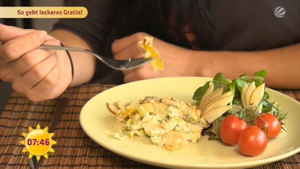 Kartoffel-Apfel-Gratin mit Blauschimmelkäse