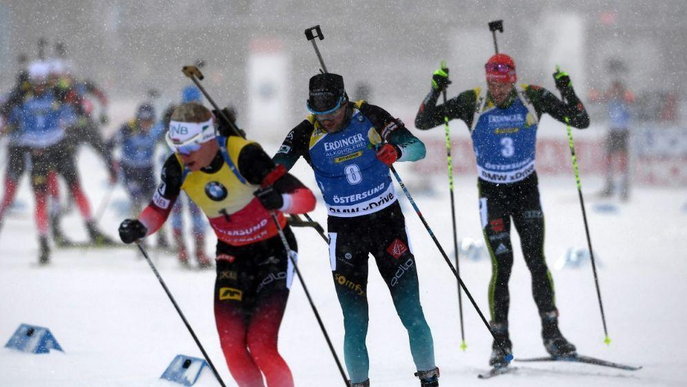 Die deutschen Biathleten verpassten die Medaillenränge - Bildquelle: AFPSIDJONATHAN NACKSTRAND