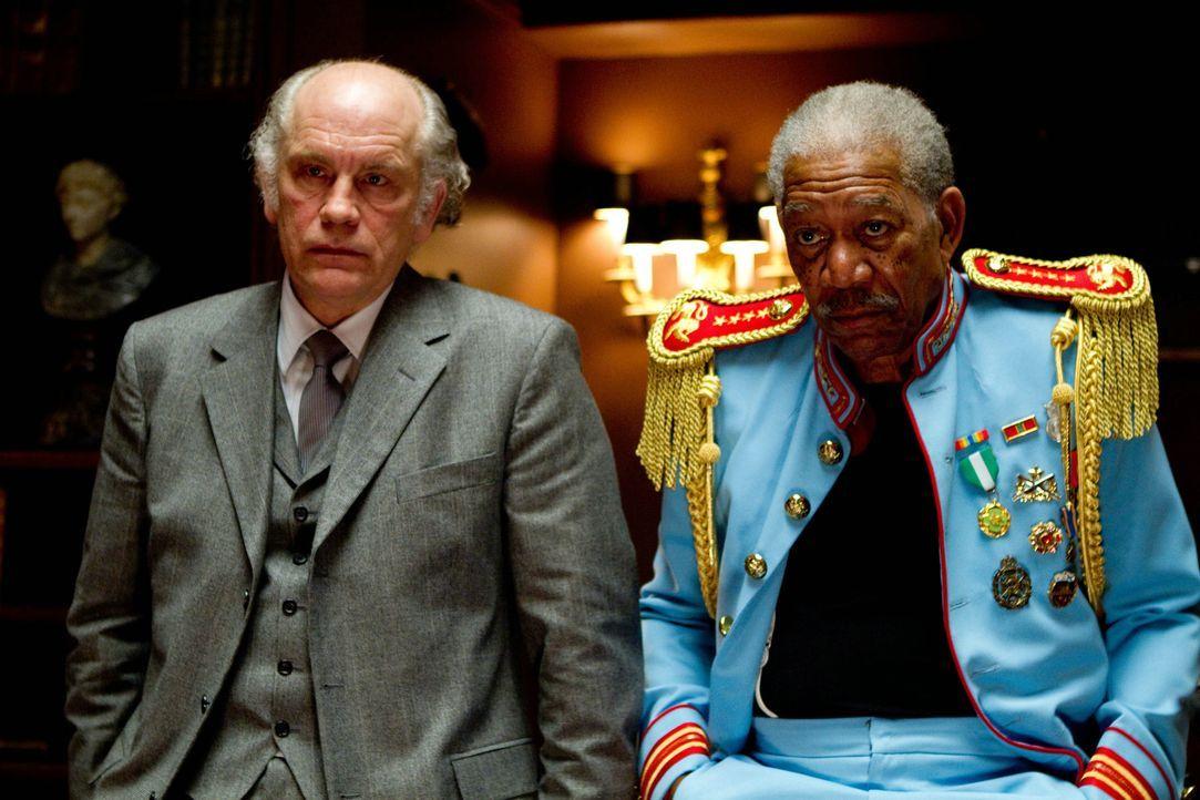 Back in business: Für die Ex-Agenten Marvin (John Malkovich, l.) und Joe (Morgan Freeman, r.) beginnt ein gnadenloser Kampf ums Überleben ... - Bildquelle: 2010 Concorde Filmverleih GmbH
