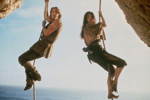 Die Piratenbraut - Die schöne und raubeinige Morgan (Geena Davis, l.) kann de...