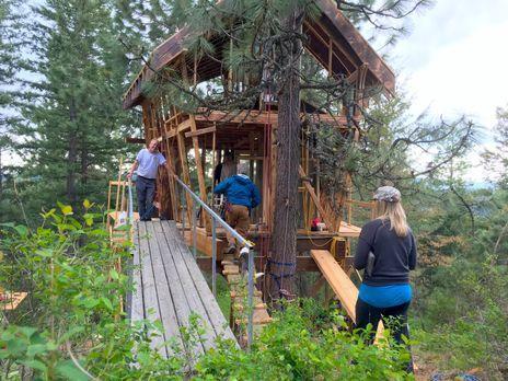 Wie werden die Globetrotter Lynn und Andrew auf ihr außergewöhnliches Baumhau...