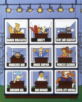 Die Simpsons - Als Bowling-Star tritt Homer (M.) in einem Fernsehquiz auf. -...