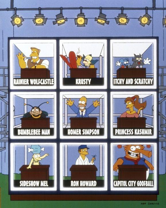 Als Bowling-Star tritt Homer (M.) in einem Fernsehquiz auf. - Bildquelle: und TM Twenthieth Century Fox Film Corporation - Alle Rechte vorbehalten