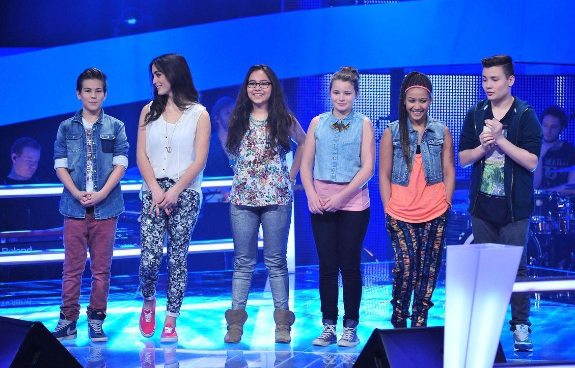 The-Voice-Kids-Stf02-Epi06-Selin-Lara-Patrizia-Naomi-Richard-Stepan-142-SAT1-Andre-Kowalski - Bildquelle: SAT.1/Andre Kowalski