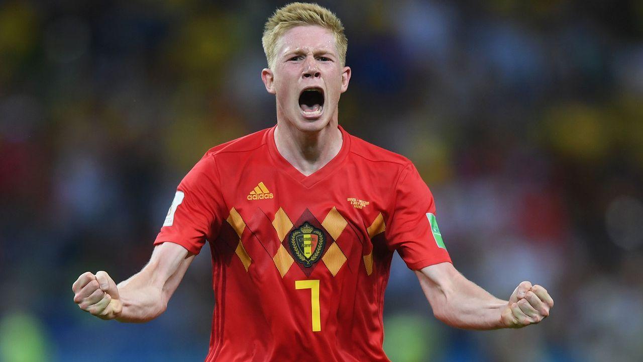 Rechter Mittelfeldspieler: Kevin De Bruyne (27, Belgien) - Bildquelle: 2018 Getty Images