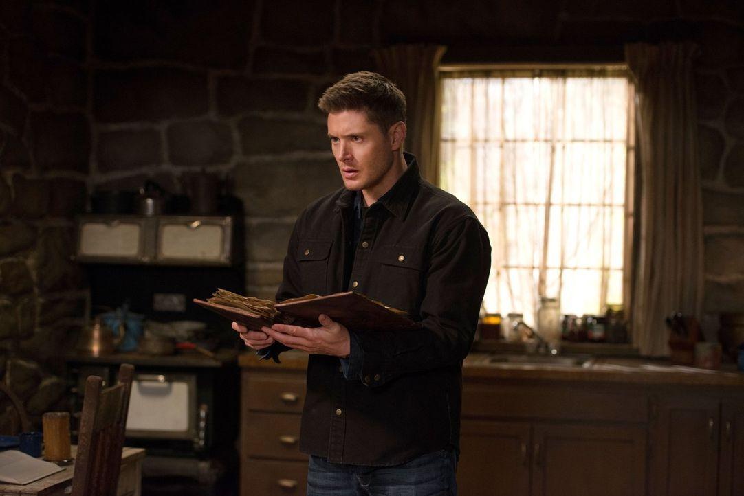 Das Buch der Verdammten hat einen starken Einfluss auf Dean (Jensen Ackles), aber kann es ihm auch helfen seinen Fluch loszuwerden? - Bildquelle: 2016 Warner Brothers