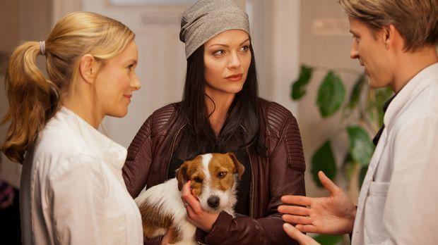 Als Tamara (Kristina Dörfer, M.) beinahe einen kleinen Hund anfährt, verlangt...